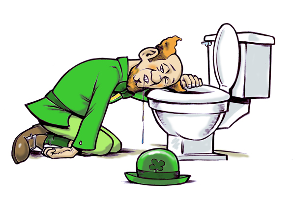 Blood and Vomit:  The Yearly Nightmare that is St. Patrick's Day